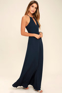 Beauty and Grace Navy Blue Maxi Dress 2