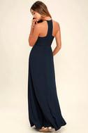 Beauty and Grace Navy Blue Maxi Dress 3