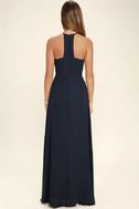 Beauty and Grace Navy Blue Maxi Dress 4