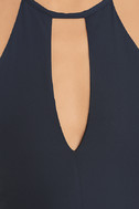 Beauty and Grace Navy Blue Maxi Dress 6