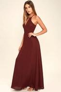 Beauty and Grace Burgundy Maxi Dress 2