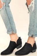 Stands Apart Black Nubuck Ankle Booties 2
