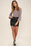 Good One Taupe Off-the-Shoulder Bodysuit 2