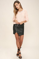 Welcome Home Peach Lace-Up Sweater 2