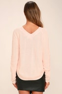 Welcome Home Peach Lace-Up Sweater 4
