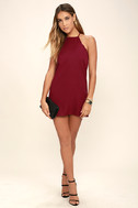 Endlessly Endearing Wine Red Dress 2