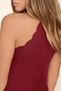 Endlessly Endearing Wine Red Dress 5
