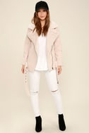 J.O.A. We Go Together Blush Pink Sherpa Coat 2
