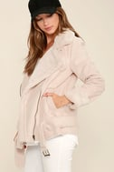 J.O.A. We Go Together Blush Pink Sherpa Coat 3