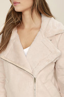 J.O.A. We Go Together Blush Pink Sherpa Coat 5