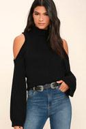 Spoiler Alert Black Turtleneck Sweater 1