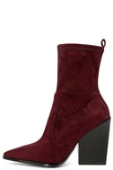 Kendall + Kylie Felicia Dark Red Suede Pointed Mid-Calf Boots 2