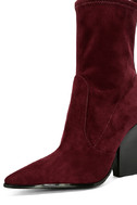 Kendall + Kylie Felicia Dark Red Suede Pointed Mid-Calf Boots 6