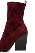 Kendall + Kylie Felicia Dark Red Suede Pointed Mid-Calf Boots 7