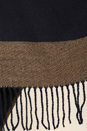Precipice Palace Taupe and Navy Blue Poncho 8