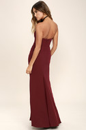 For Infinity Burgundy Strapless Maxi Dress 3