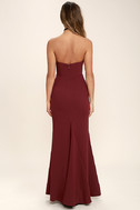 For Infinity Burgundy Strapless Maxi Dress 4