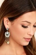 Lover of the Light Gold Rhinestone Earrings 2