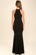 Girl in the Mirror Black Beaded Maxi Dress 4