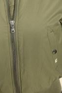 Billabong Lost in Time Olive Green Bomber Jacket 6