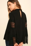 Step and Repeat Black Lace Long Sleeve Top 3