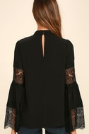 Step and Repeat Black Lace Long Sleeve Top 4