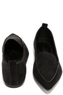 Emmy Black Suede Pointed Loafers 3