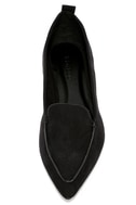 Emmy Black Suede Pointed Loafers 5