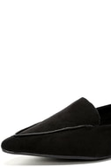 Emmy Black Suede Pointed Loafers 6