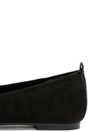 Emmy Black Suede Pointed Loafers 7