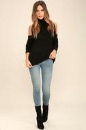 She's Got a Way Black Turtleneck Sweater 2