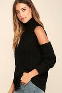 She's Got a Way Black Turtleneck Sweater 3