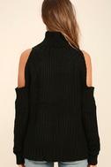 She's Got a Way Black Turtleneck Sweater 4