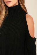 She's Got a Way Black Turtleneck Sweater 5