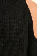 She's Got a Way Black Turtleneck Sweater 6