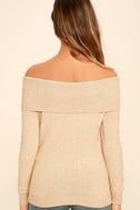 That's What Friends Are For Beige Off-the-Shoulder Sweater 4