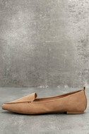 Emmy Camel Suede Pointed Loafers 2