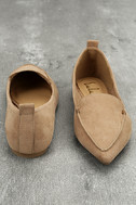 Emmy Camel Suede Pointed Loafers 3