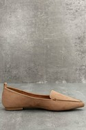 Emmy Camel Suede Pointed Loafers 4