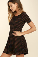 RVCA Sylas Black Print Dress 3