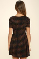 RVCA Sylas Black Print Dress 4