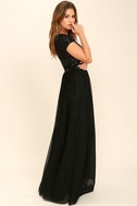 L'amour Black Sequin Maxi Dress 3