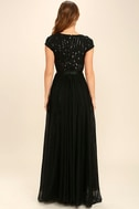 L'amour Black Sequin Maxi Dress 4