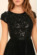 L'amour Black Sequin Maxi Dress 5