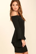 Every Breath You Take Black Off-the-Shoulder Dress 3