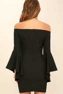 Every Breath You Take Black Off-the-Shoulder Dress 4