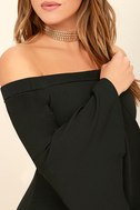 Every Breath You Take Black Off-the-Shoulder Dress 5