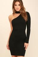 All I Half Black One Shoulder Dress 1