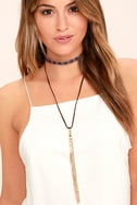 Quiet Sunset Gold and Brown Necklace Set 1