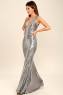 Your Luxe Day Pewter Sequin Maxi Dress 3